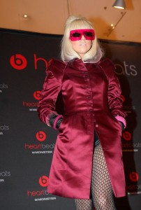 lady gaga outfit red dress