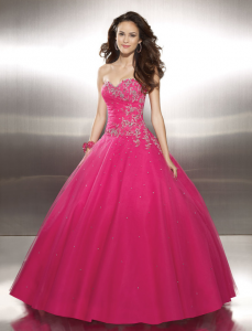 Red mori lee gypsy prom dress